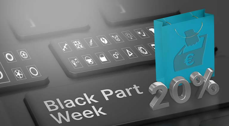 Black Part Sale / Week - Header Mobil - Smartphone
