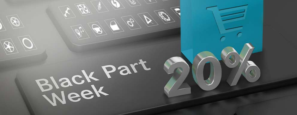 Black Part Sale / Week - Header Mobil - Tablet